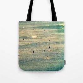 Maui Surfers Retro Tote Bag