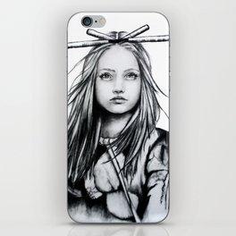 Bamboo Hair iPhone Skin