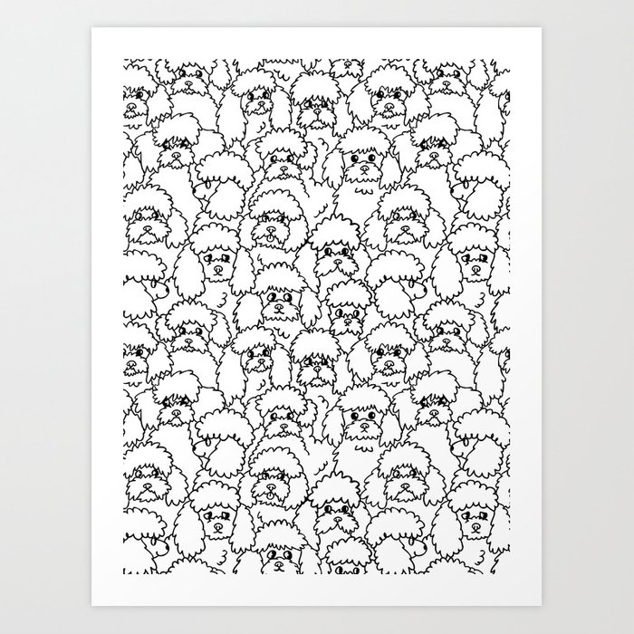 Oh Poodle Art Print