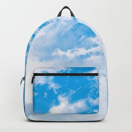 Palm Tree under Blue and White Backpack