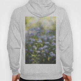 Forget-me-not meadow Spring Flower Flowers Floral Hoody