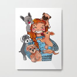Dogs Lover Metal Print