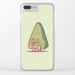Zombie Triangle Clear iPhone Case