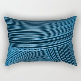 Abstract wave art - blue Rectangular Pillow