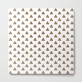Pile of Poo Emoji Metal Print