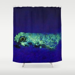 Fluorescent Lizardfish Shower Curtain