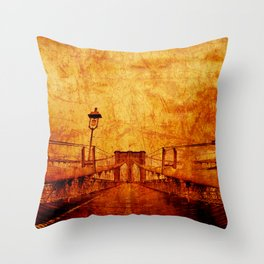 Brooklyn Burning Throw Pillow