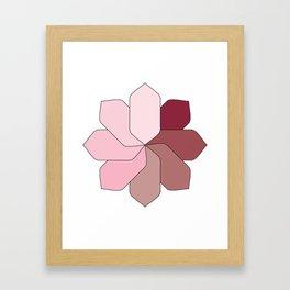 Flower Gradient Framed Art Print