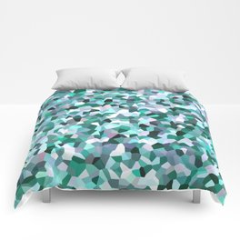 Turquoise Mosaic Pattern Comforters