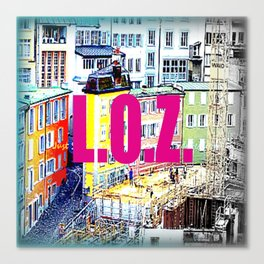 ''LOZ'' Lausanne, Switzerland 2014  Canvas Print