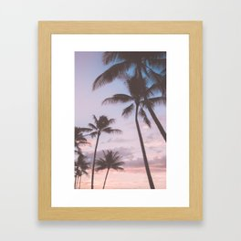 Pastel Palm Trees Framed Art Print