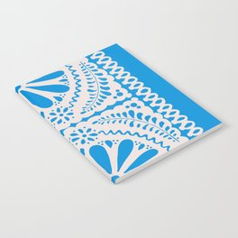 Fiesta de Flores in Party Blue Notebook