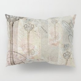 Antique French Key and Postmark Pillow Sham
