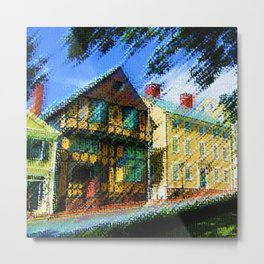 Fleur-de-Lys - H.P. Lovecraft novel home of Cthulhu oil on canvas - Providence, Rhode Island Metal Print
