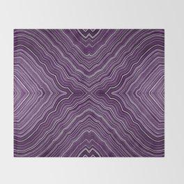 Abstract #9 - IX - Purple Throw Blanket