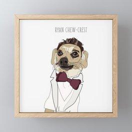 Celebrity Dogs-Ryan Chew-crest Framed Mini Art Print
