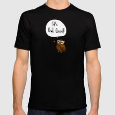 It's Owl Good! Black SMALL Mens Fitted Tee