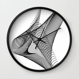 """""""Script Collection"""" - Minimal Letter H Print Wall Clock"""