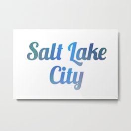 Salt Lake Metal Print