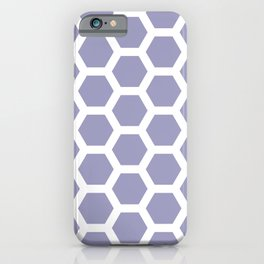 Lilac Honeycomb Pentagon Geometric Pattern iPhone Case