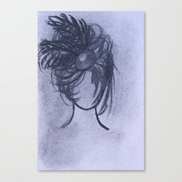 Girl with Fascinator Canvas Print