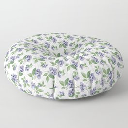 Watercolour blueberry pattern #s1 Floor Pillow