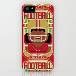 American Football Red and Gold - Hail-Mary Blitzsacker - Aretha version iPhone Case