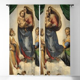The Sistine Madonna Oil Painting by Raphael Blackout Curtain