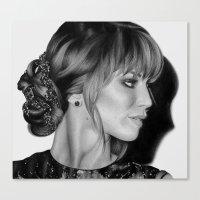 jennifer lawrence Canvas Prints featuring Jennifer Lawrence by Emma Porter
