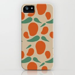 Red Mango Pattern iPhone Case