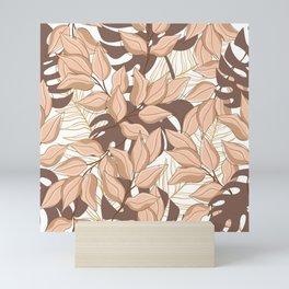 tree leaves 85 Pink dust Mini Art Print