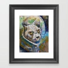 Space Cat Framed Art Print