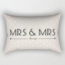 Mrs & Mrs (lesbian content) Rectangular Pillow