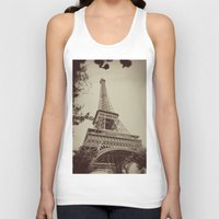 eiffel tower Tank Tops featuring Eiffel Tower by AngelicaRoesler