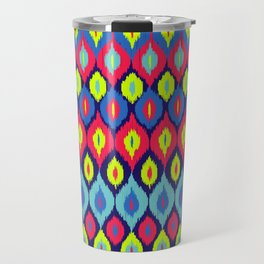 Neon Ikat Travel Mug