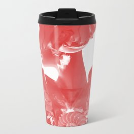 Caracolesque/Red light Metal Travel Mug