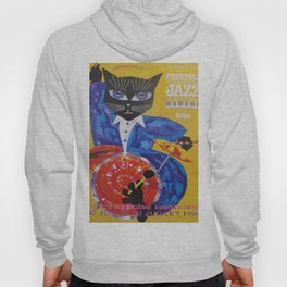 1994 Montreal Jazz Festival Cool Cat Poster No. 3 Gig Advertisement Hoody