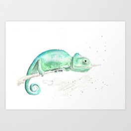 Calm Cameleon Art Print
