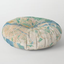Amsterdam, the watercolor beauty Floor Pillow