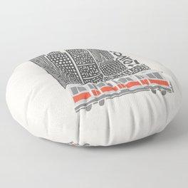Boston City Illustration Floor Pillow