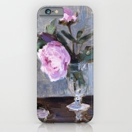 Berthe Morisot - Peonies - Digital Remastered Edition iPhone Case