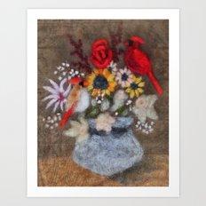 Cardinal Bouquet Art Print