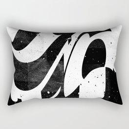 Experimantal typography Rectangular Pillow