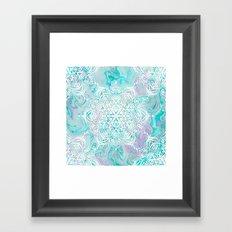 Marble Mandala Twist VI Framed Art Print