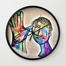 American Sign Language Grandfather Wall Clock