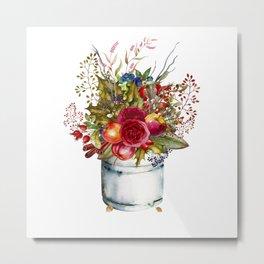 Woodland Bouquet Metal Print