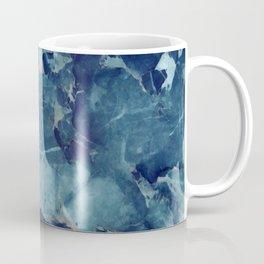 Blue marble texture Coffee Mug