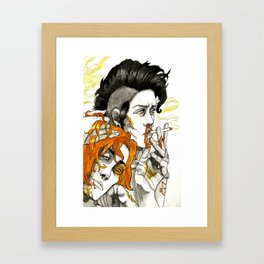 JUST BE STILL WITH ME Framed Art Print