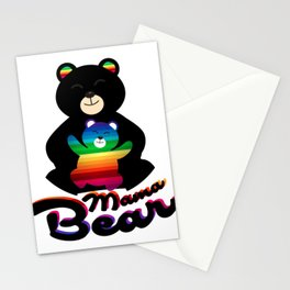 LGBT Mama Mom Bear Mothers Gift Stationery Cards