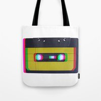 cassette Tote Bags featuring Cassette by Michal